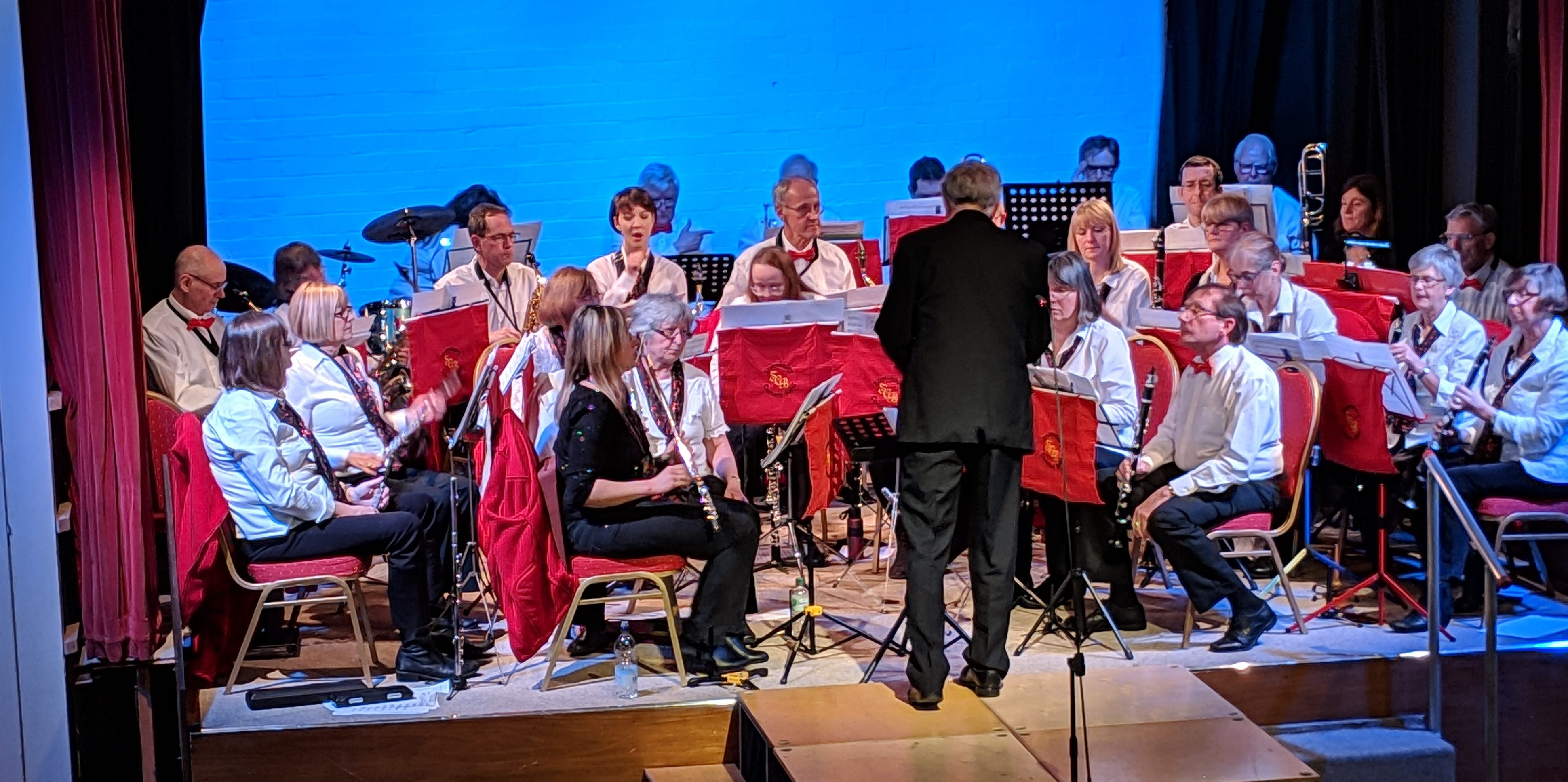 Picture of the Shewsbury Concert Band conducted by Ken Lumley