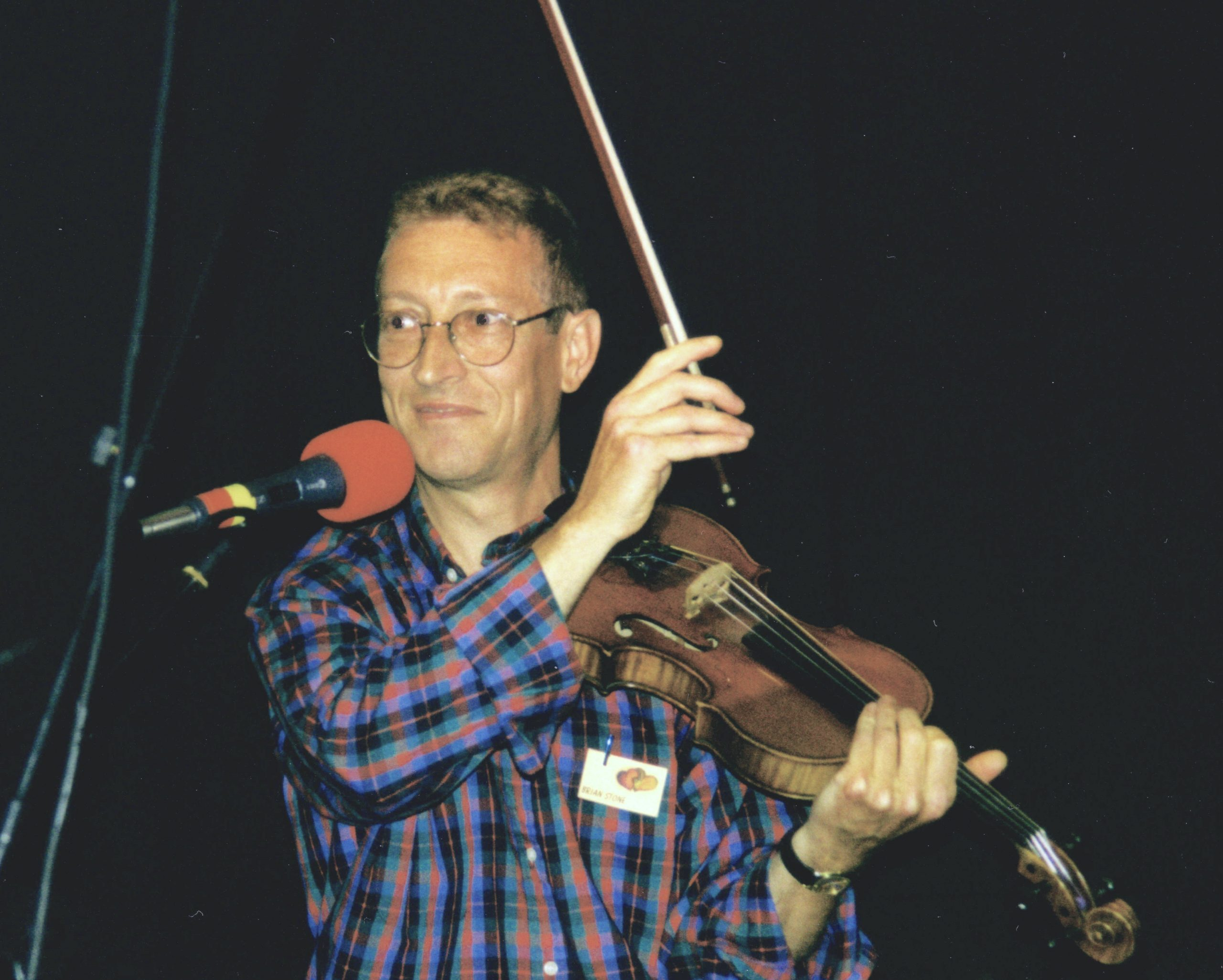 Brian Stone and his violin